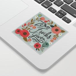Pretty Swe*ry: Zero Fs given Sticker