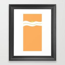 """"""" Orange days """" Framed Art Print"""