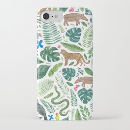 Jungle/Tropical Pattern iPhone Case