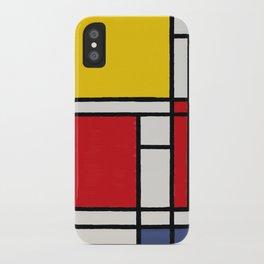 Abstract Mondrian Style Art iPhone Case
