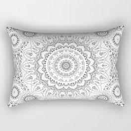 MOONCHILD MANDALA BLACK AND WHITE Rectangular Pillow