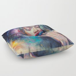 BLACK HOLE IN THE MILKY WAY Floor Pillow