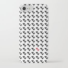 HEARTS ALL OVER PATTERN VI iPhone Case