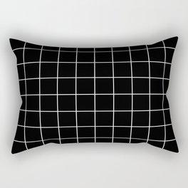 Grid Simple Line Black Minimalistic Rectangular Pillow