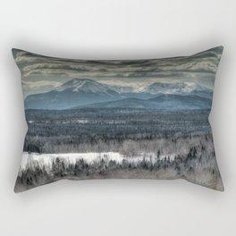 Spring snow on Mount Katahdin Rectangular Pillow