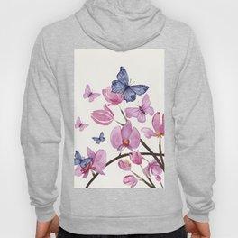 Flowers and butterflies Hoody