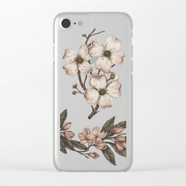 Flowering Spring Trees Clear iPhone Case