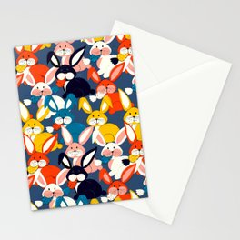Rabbit colored pattern no2 Stationery Cards