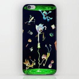 Rick & Morty fall in a portal iPhone Skin