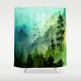 Mountain Morning Shower Curtain