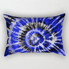 Dark Blue Tie Dye Rectangular Pillow