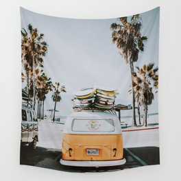 lets surf / venice beach, california Wall Tapestry