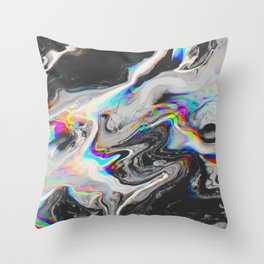 CONFUSION IN HER EYES THAT SAYS IT ALL Throw Pillow