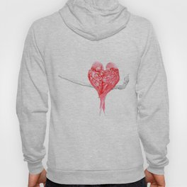 Red Heart Birds Love Hoody