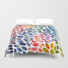 Colorful Painted Drops Duvet Cover