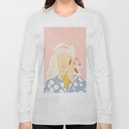Girl and her Flower Long Sleeve T-shirt