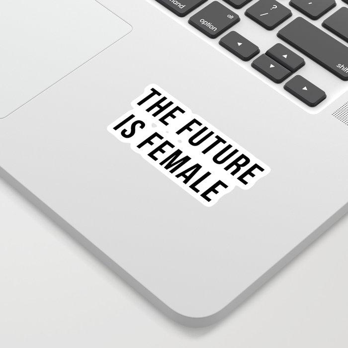 Future Is Female Quote Sticker