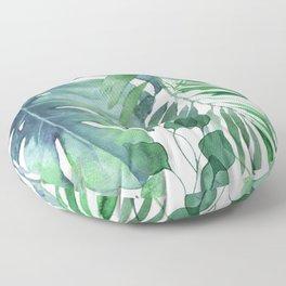 Tropical  Leaves Floor Pillow