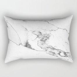 White Marble I Rectangular Pillow