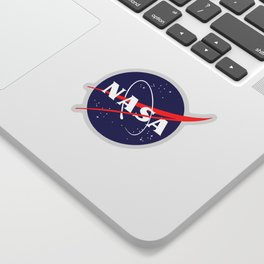 """The Official NASA """"Meatball"""" Logo (and licensed!) Sticker"""