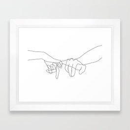 Pinky Swear Framed Art Print