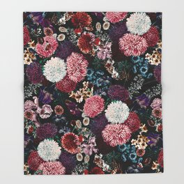 EXOTIC GARDEN - NIGHT VIII Throw Blanket