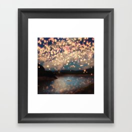 Love Wish Lanterns Framed Art Print
