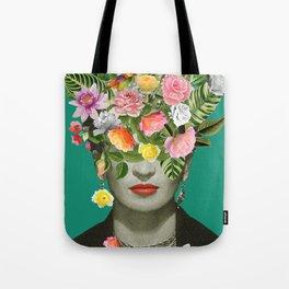 Frida Floral Tote Bag
