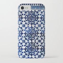 Cobalt Flourish iPhone Case