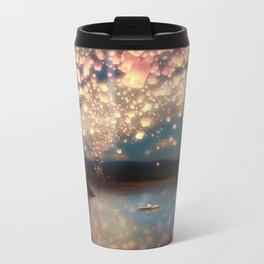 Love Wish Lanterns Metal Travel Mug