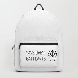 Save lives eat plants Backpack
