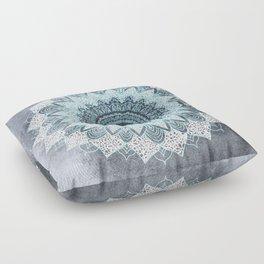 BOHOCHIC MANDALA IN BLUE Floor Pillow