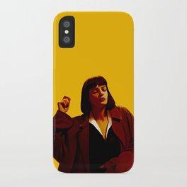Mia Wallace - Yellow iPhone Case