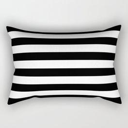 Stripe Black & White Horizontal Rectangular Pillow