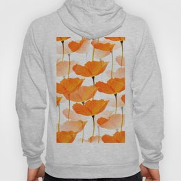 Orange Poppies On A White Background #decor #society6 #buyart Hoody