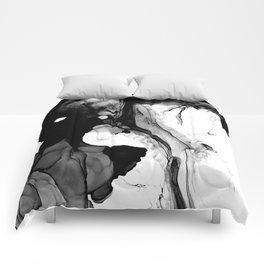 Soft Black Marble  Comforters