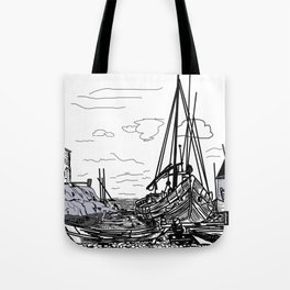 boats on the sea . artwork Tote Bag