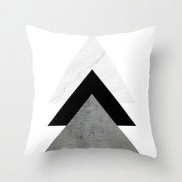 Arrows Monochrome Collage Throw Pillow
