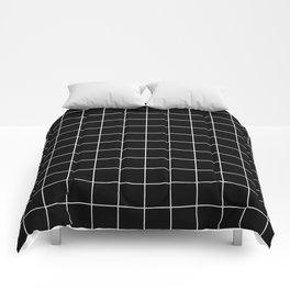 Grid Simple Line Black Minimalistic Comforters
