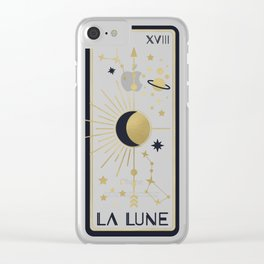 The Moon or La Lune Tarot Clear iPhone Case