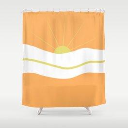 """"""" Orange days """" Shower Curtain"""