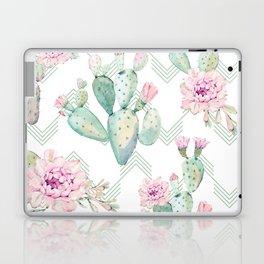 Cactus Chevron Southwestern Watercolor Laptop & iPad Skin