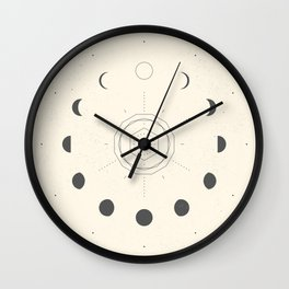 Moon Phases Light Wall Clock