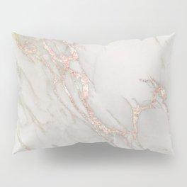 Marble Rose Gold Blush Pink Metallic by Nature Magick Pillow Sham