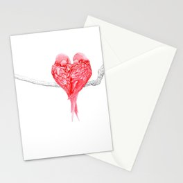 Red Heart Birds Love Stationery Cards