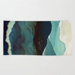 Indigo Mountains Beach Towel