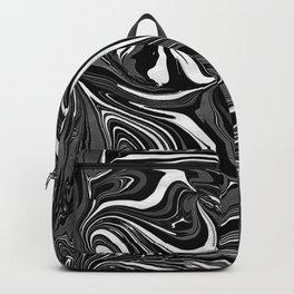 Black White Grey Marble Backpack