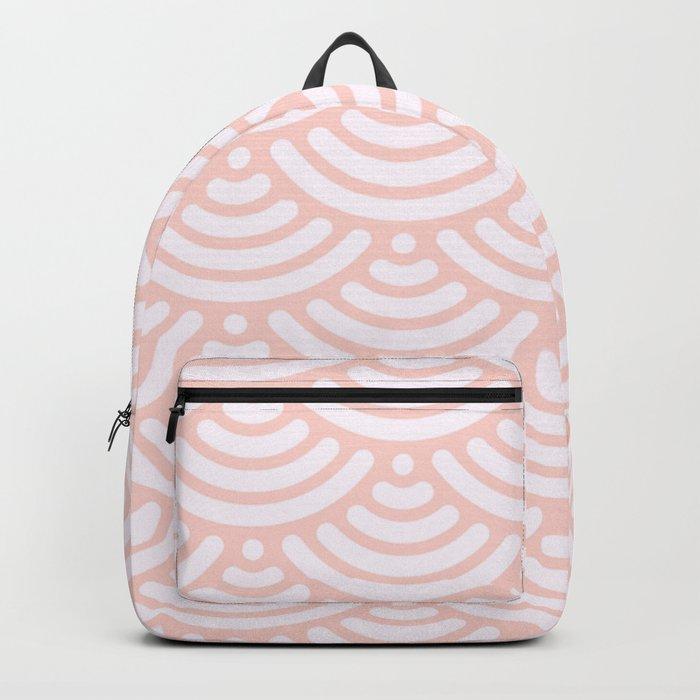Pink Coral Mermaid Scales Bold Backpack