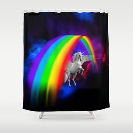Unicorn & Rainbow Shower Curtain