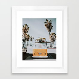 lets surf / venice beach, california Framed Art Print